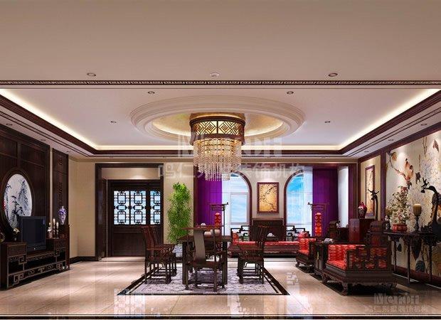 客厅装修效果图-460平筑景蓝河湾简约欧式风格装修效果图