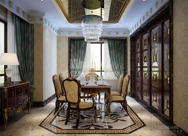 设计师秉承新古典风格的特点,在吸收欧式传统风格元素的同时,兼顾了