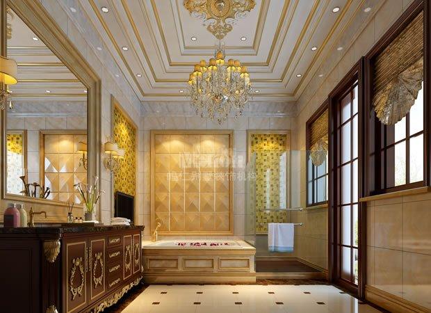 欧洲古典建筑的历史源远流长,在经历了古希腊、古罗马经典建筑的洗礼之后,形成了以柱式、拱券、山花、门损、雕塑为主要构件的石构造建筑装饰风格。本套设计中,设计师利用金色与白色的经典搭配,成功诠释了古典欧式风格的富丽之感。
