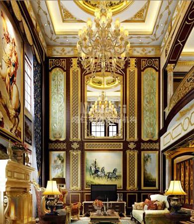 欧式四合院餐厅图片大全