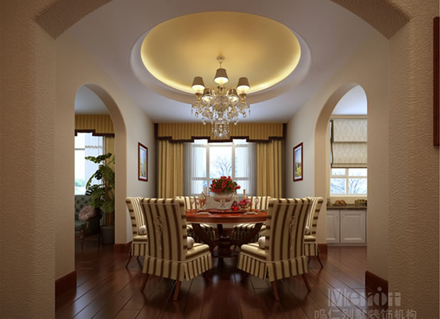 400平赤峰皇家帝苑美式风格装修效果图--仁晟装饰_森