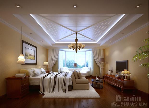 400平赤峰皇家帝苑美式风格装修效果图--仁晟装饰