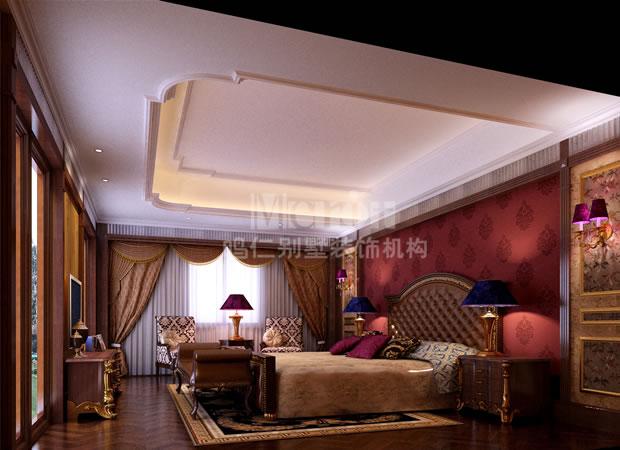 简约欧式主卧室装修效果图--仁晟装饰