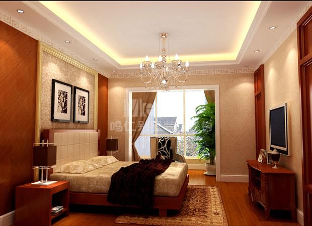 中式次卧室装修效果图