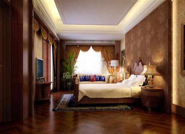 简约欧式次卧室装修效果图