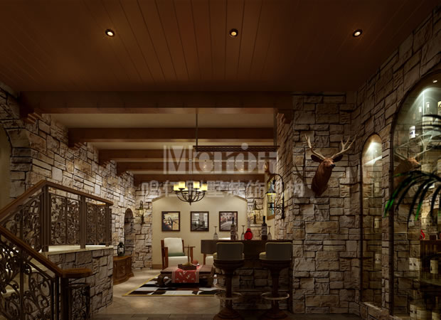 简约欧式地下室装修效果图