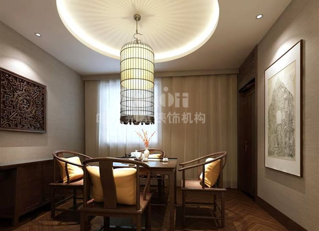 中式茶水室装修效果图