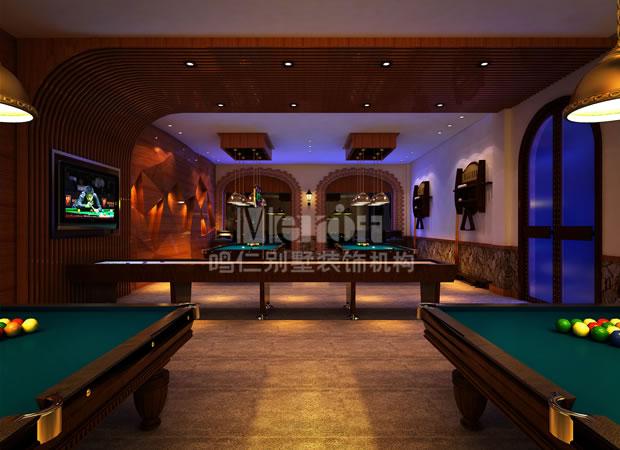 新古典台球室装修效果图