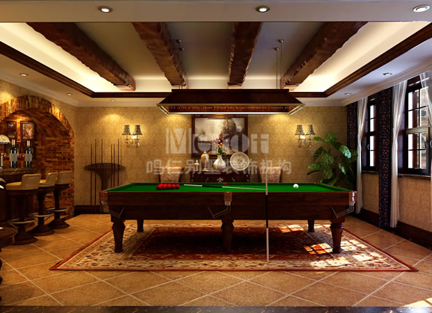 简约欧式台球室装修效果图图片