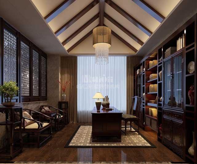 首创澜茵山380平轻中式别墅装修设计分析