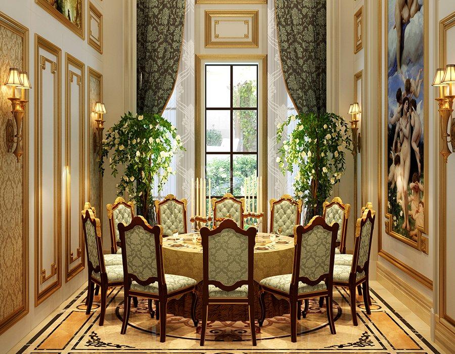 与沙发色调相融合,金丝绒布在古代欧洲是一种非常昂贵的布料,墨绿色的