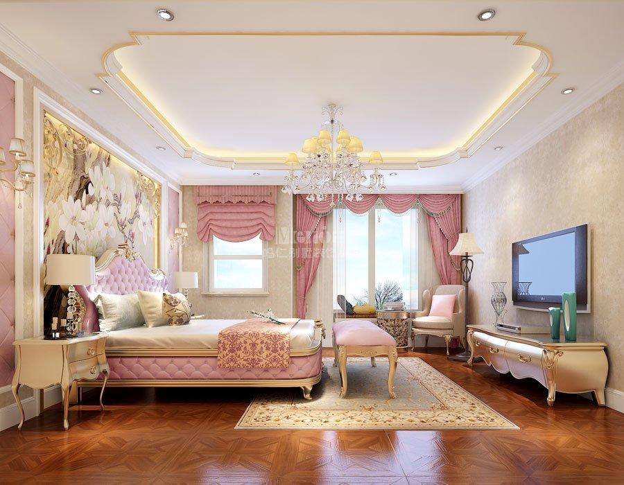 别墅案例 设计案例   本案以简欧格为主,整体布局上突出轴线的对称