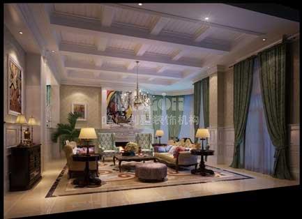 300平廊坊自建别墅简欧风格装修效果图