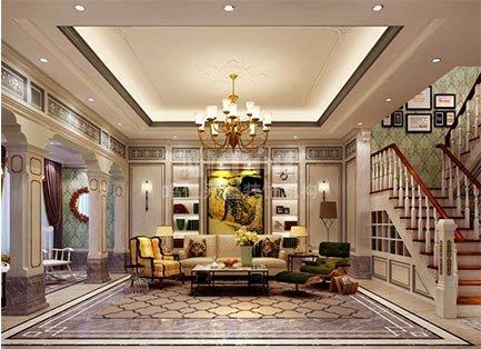 400平米海景苑美式别墅装修设计