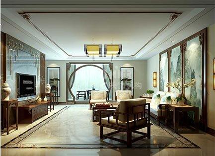 300平金华园新中式风格别墅装修设计效果图