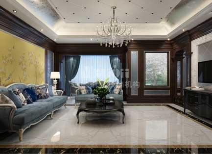 潮白河孔雀城新中式风格500平米别墅装修设计效果图