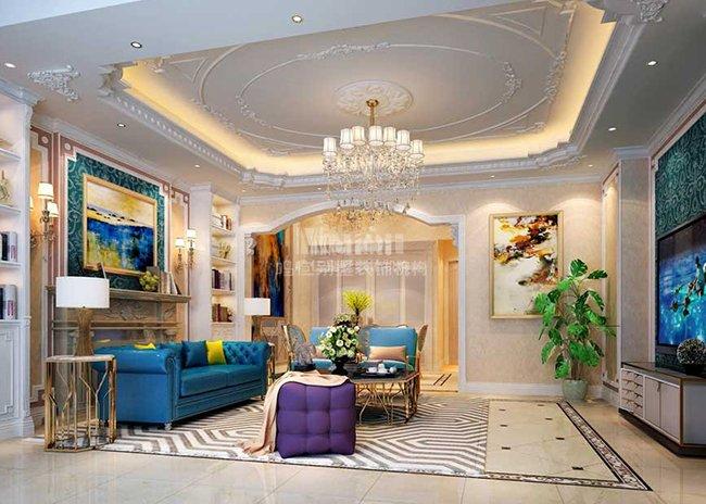 三盛国际城300平米别墅装修设计效果图