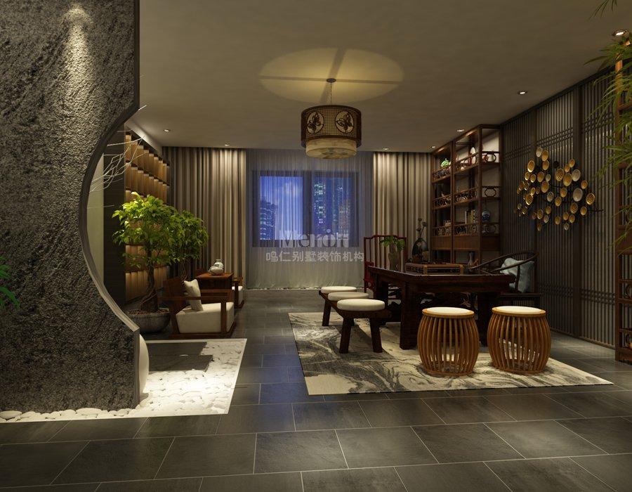 北京私人会所307平中式风格会所装修设计