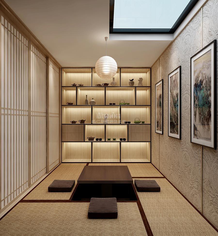 鲁能七号院316平现代日式风格别墅装修设计