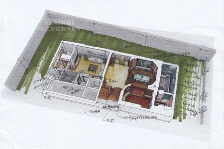 文化住宅空间设计手绘图