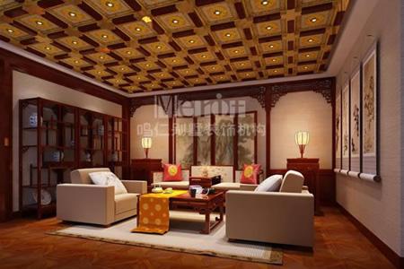新中式别墅装修风格休息室