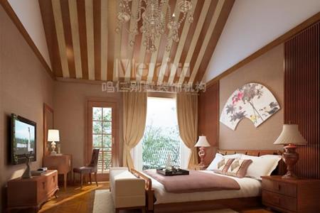 新中式别墅装修风格主卧室