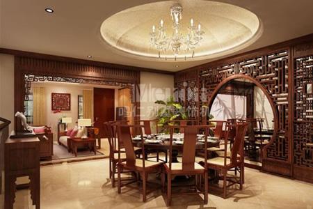新中式别墅装修风格餐厅