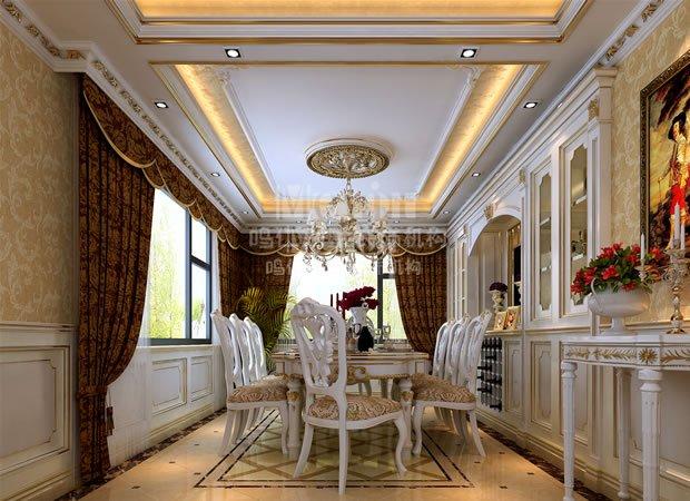 本案设计的主旨在于体现这种安逸、自然的生活境界。整个项目以欧式的简约风格为主线,去繁从简,将古典欧式元素用最直观、自然的装饰形态呈现,表达出一种返璞归真的生活态度。身临其中,仿佛领略到欧洲海岸小镇的闲适和浪漫情调。  一层将原有的露台改造成餐厅,将厨房与餐厅设置在一层,保证了厨房的使用面积,功能区域得到合理分化,新建的餐厅与客厅形成南北通透的优良格局,使一层的采光性得到大幅度的提升。