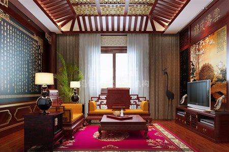 红木装饰,古典画,青花瓷,紫砂壶,红木家具等运用到现代装饰当中,当