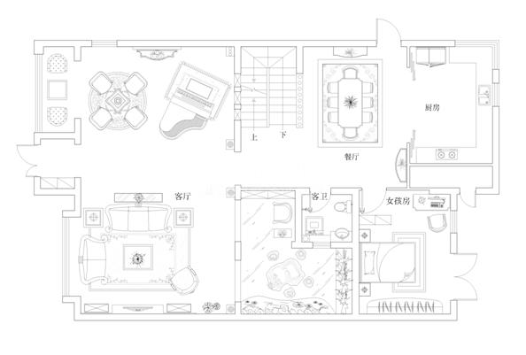 别墅平面布置图