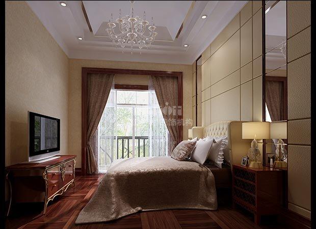 别墅次卧效果图-400平三层别墅装修效果图 现代风格
