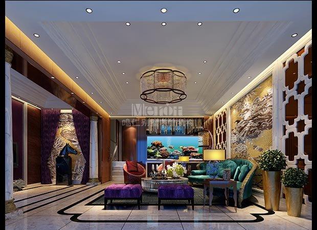 别墅客厅装修效果图案例
