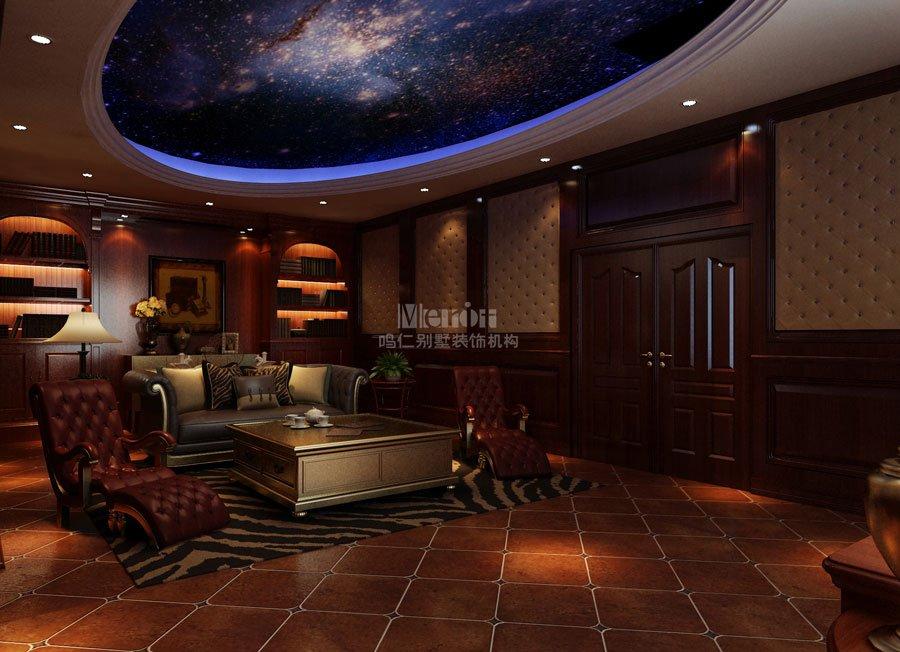 340平无锡碧桂园美式风格装修效果图图片