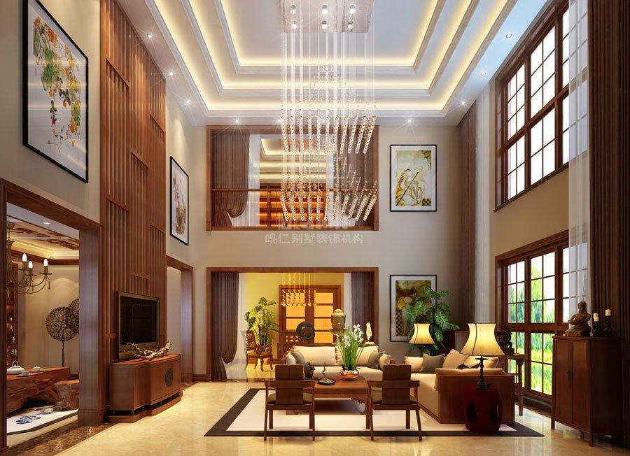"""项目名称:蔷薇溪谷 面积:380平方米 家庭成员:一家三口 风格定位:中式 材料介绍:肌理漆、水晶灯、大理石、壁纸 以宫廷建筑为代表的中国古典建筑的室内装饰设计艺术风格,气势恢弘,壮丽华贵。中式风格的室内设计古朴典雅,融合了庄重与优雅的双重气质,把传统的结构形式通过重新设计,组合成另一种民族特色的标志符号。中式风格建筑传统中透着现代,现代中揉着古典,以一种东方人特有的""""留白""""美学观念控制节奏,彰显大家风范。"""