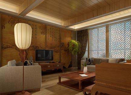 350平北京靠山居新中式风格装修效果图