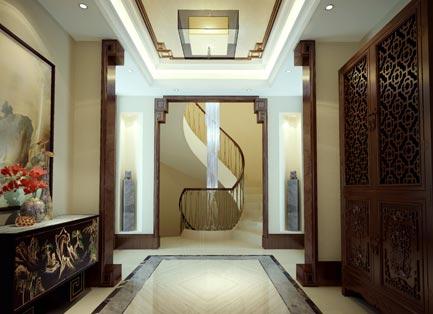 780平河北大湖孔雀城新中式风格装修效果图