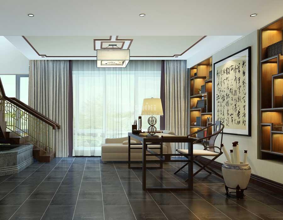 300平金华园新中式别墅装修效果图