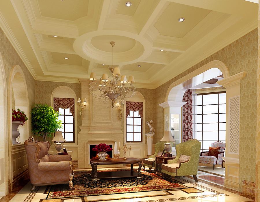 简约欧式风格是在传统欧式风格的基础上,偏向于采用罗马柱,石膏素